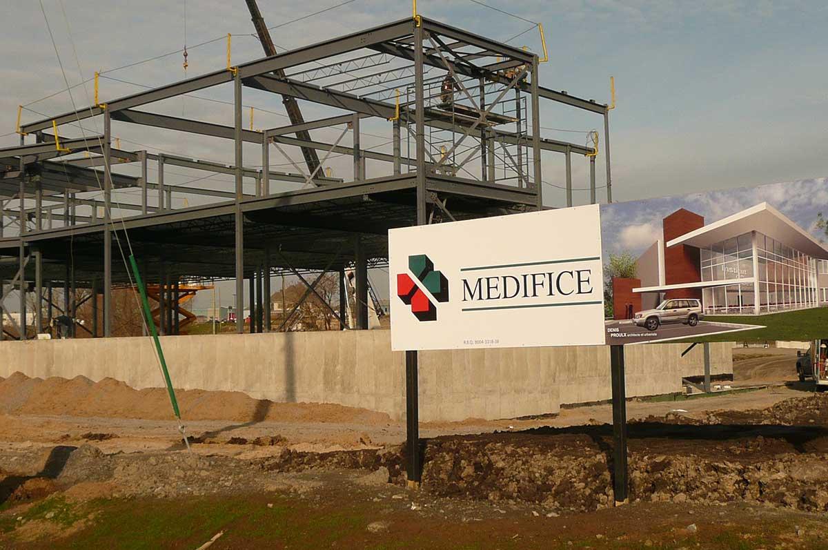 Medifice projet construction institut de loeil des for Projet construction